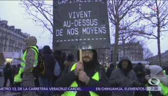 Disturbios en protestas de 'chalecos amarillos' dejan 168 detenidos