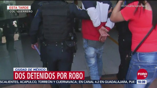 Dos detenidos por robo en la colonia Guerrero