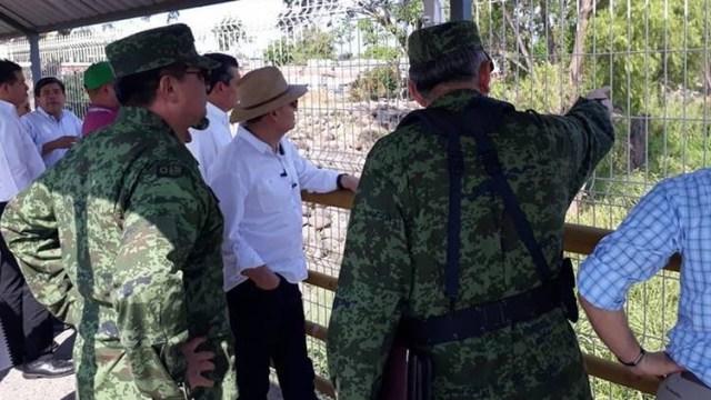 Gabinete de Seguridad visita la frontera sur de México