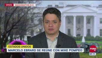 Ebrard propone a Pompeo desarrollar Centroamérica para detener migración
