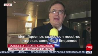 Ebrard y Nielsen hablan sobre flujo de migrantes centroamericanos