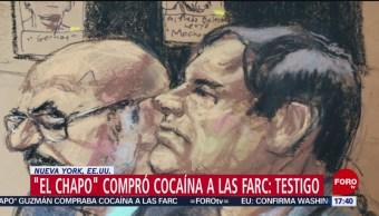 'El Chapo' compró cocaína a las FARC: testigo