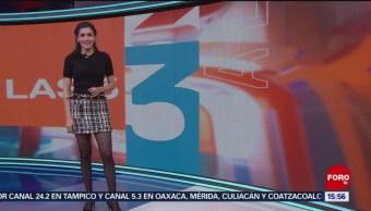 El Clima 'A las Tres' con Daniela Álvarez del 6 de diciembre de 2018