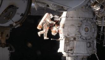 Cosmonautas concluyen una de las caminatas más difíciles