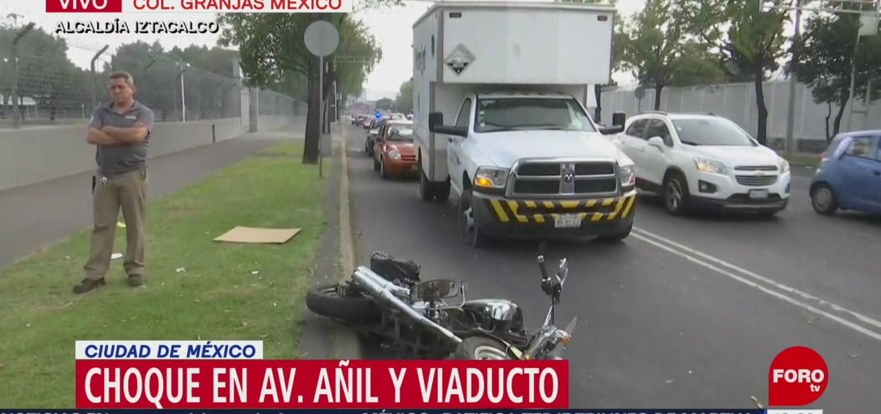 Camión atropella a motociclista en la alcaldía Iztacalco, CDMX