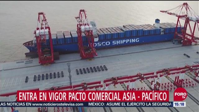 Entra en vigor pacto comercial Asia-Pacífico