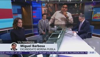 Estoy tranquilo y no voy a desestabilizar al estado de Puebla, dice Miguel Barbosa