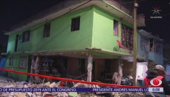 Explosión por acumulación de gas daña cuatro viviendas en Iztapalapa