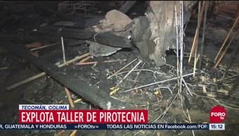 Explota Taller Pirotécnica en Tecomán Colima
