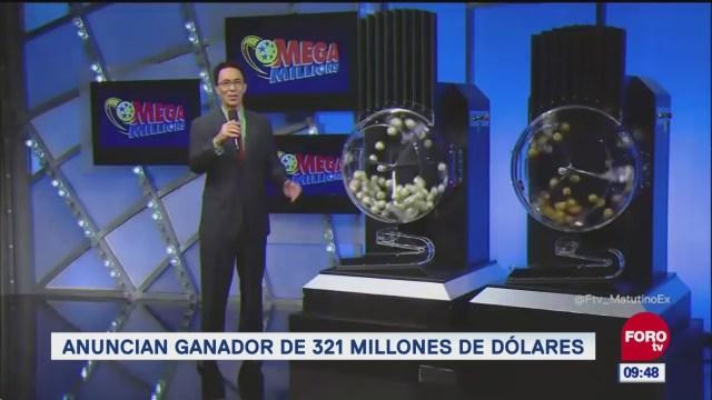 Gana de 321 millones de dólares en la lotería