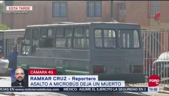 Fallece una persona tras asalto a microbús en Iztapalapa