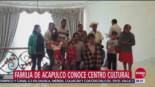 Familia de Acapulco conoce centro cultural 'Los Pinos'