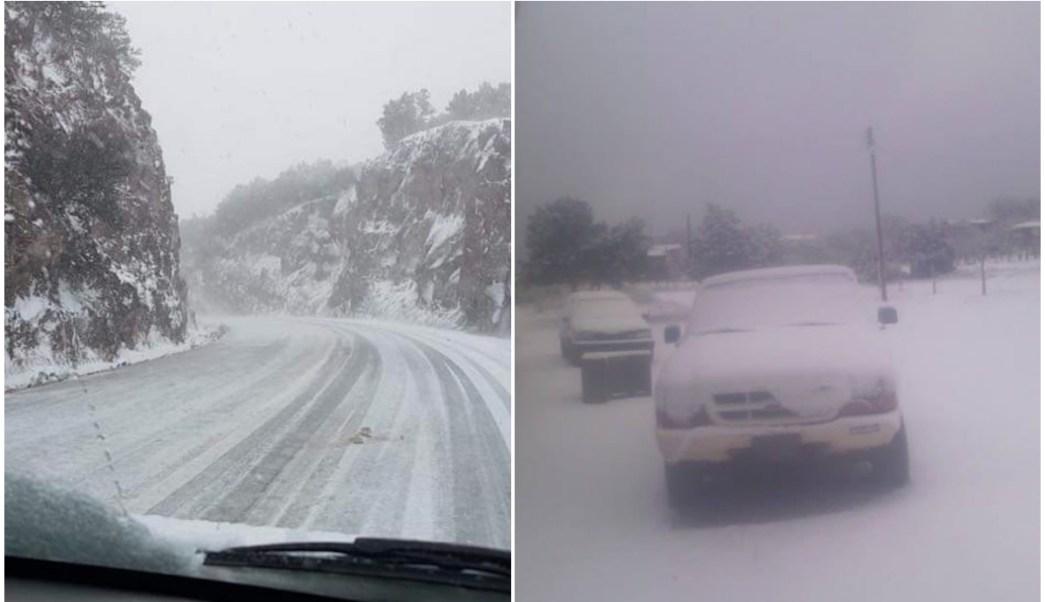 Fotos Video Caída Nieve Chihuahua Sonora