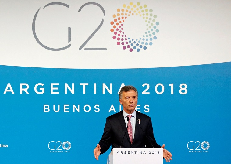 G20 alcanza acuerdo sobre comercio y cambio climático: Macri