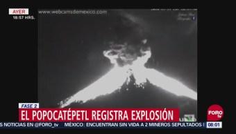 Fuerte Explosión Del Volcán Popocatépetl Mantiene En Alerta A Las Autoridades, Fuerte Explosión, Volcán Popocatépetl, Alerta, Puebla, Columna De Ceniza Y Gases