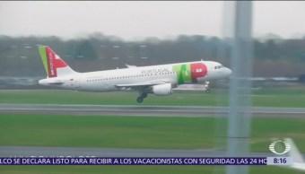 Fuertes vientos impiden a aviones aterrizar en Aeropuerto de Manchester