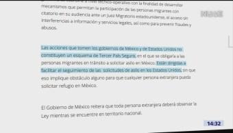 Funcionarios De EU Y México Analizarán Asilo A Migrantes, Funcionarios De EU Y México, Asilo A Migrantes,