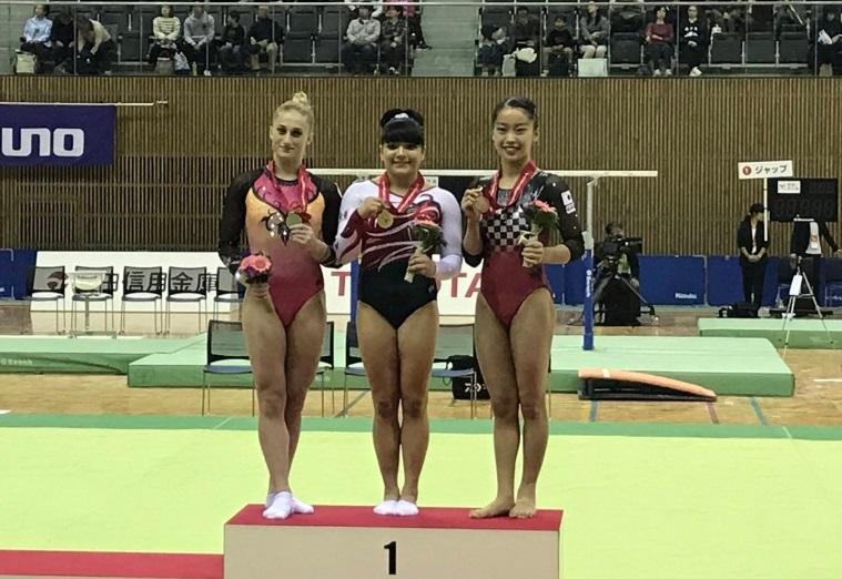 Gimnasta mexicana Alexa Moreno gana oro en Japón