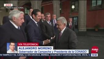 Gobernador de Campeche avanza acuerdos en tema de seguridad con AMLO