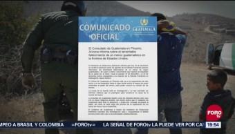 Guatemala Envía Nota Diplomática EU Muerte Menor