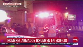 Hombres armados irrumpen edificio en la colonia Portales, CDMX