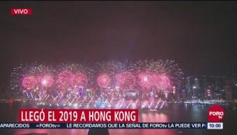 Hong Kong festeja inicio del 2019 y despide el 2018