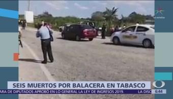 Huachicoleros se enfrentan en Tabasco, hay 6 muertos