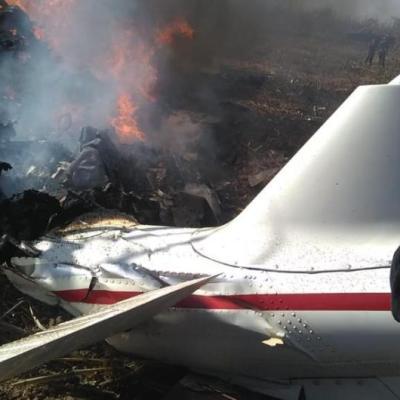 Captan en video momento después del desplome del helicóptero de la gobernadora de Puebla