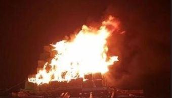 Elementos de la PGR destruyen 2 toneladas de narcóticos en Mexicali, Baja California