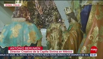 Instalan nacimiento mexicano en Basílica de San Juan de Letrán en Roma