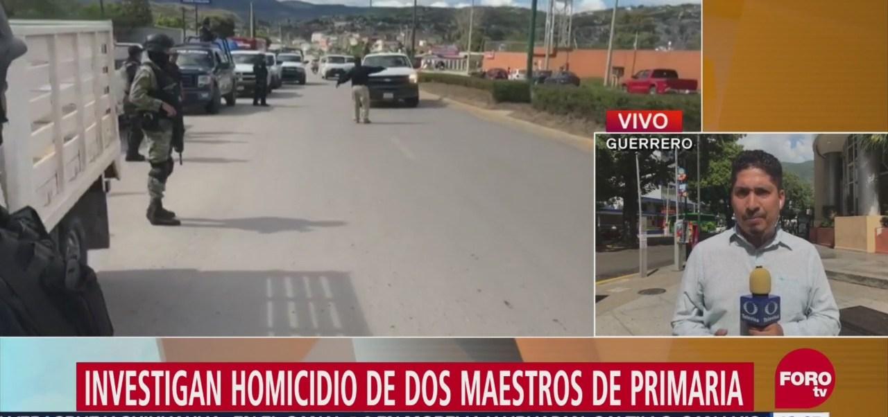 Investigan el homicidio de dos maestros de primaria en Tlacoachistlahuaca, Guerrero
