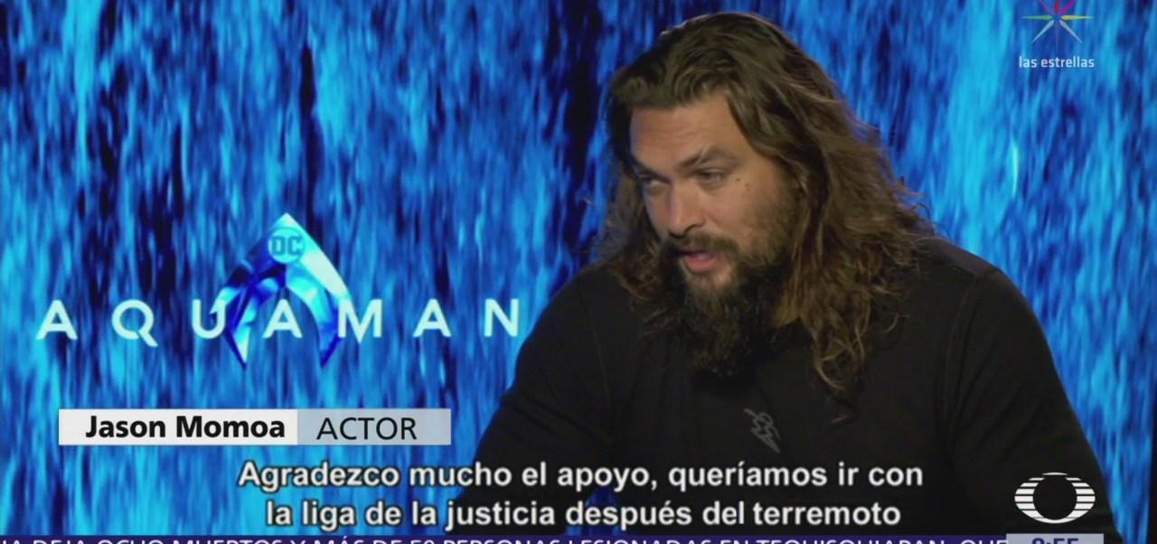 Jason Momoa habla del estreno de 'Aquaman' en México