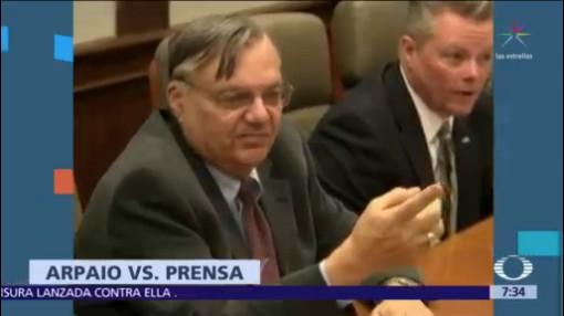 Joe Arpaio presenta demanda por difamación contra medios de EU