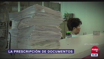 La prescripción de documentos