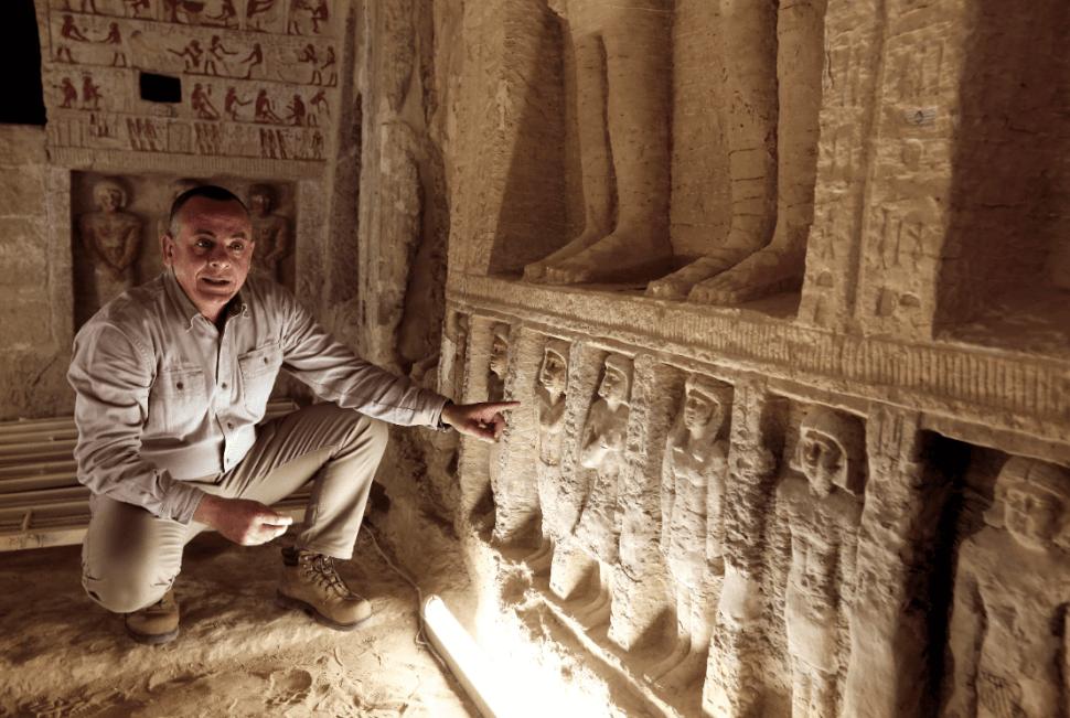 La tumba descubierta en Egipto está bien conservada. (AP)