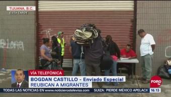 Reubican a migrantes en Tijuana, Baja California