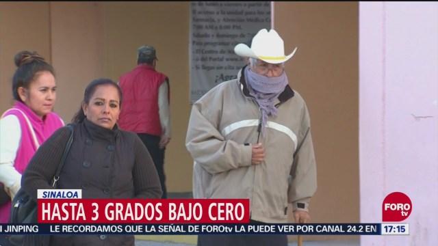 Sonora registra temperaturas de hasta tres grados bajo cero