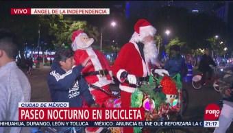 Realizan Paseo Nocturno En Bicicleta En La Cdmx, Paseo Nocturno, Bicicleta, Cdmx, Último Paseo Nocturno En Bicicleta, 17 Kilómetros, Ciudad De México