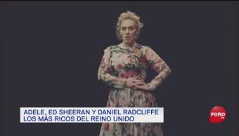 Adele encabeza la lista de los jóvenes más ricos de Reino Unido