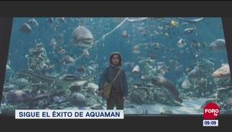 Aquaman entre las películas más vistas durante un periodo vacacional