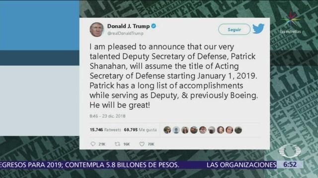Trump responde con enojo a Mattis