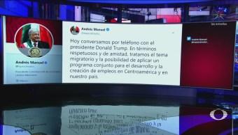 Amlo Y Trump Sostienen Llamada Telefónica