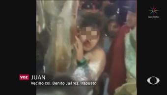 Rescatan Mujer Linchada Robo Menor Irapuato