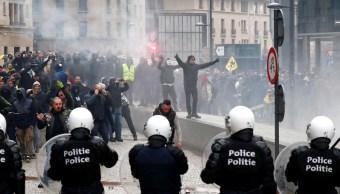 Bruselas: Protesta contra pacto migratorio deja 97 detenidos