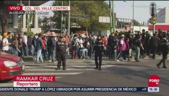 Manifestantes liberan Insurgentes, a la altura de San Antonio