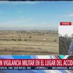 Mantienen Vigilancia Militar Lugar Accidente Aéreo Puebla