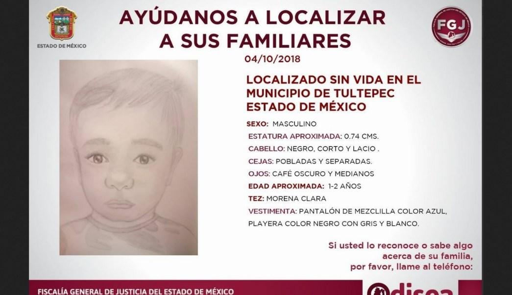 Niño asesinado en Tultepec aún no ha sido identificado