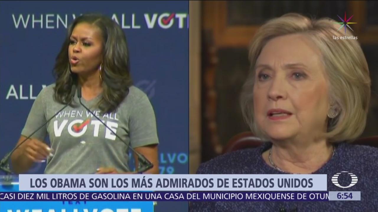 Michelle Obama supera a Hillary Clinton