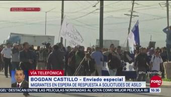 Migrantes en Tijuana esperan respuesta de EU a solicitudes de asilo