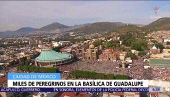 Miles de peregrinos llegan a la Basílica de Guadalupe, en la CDMX